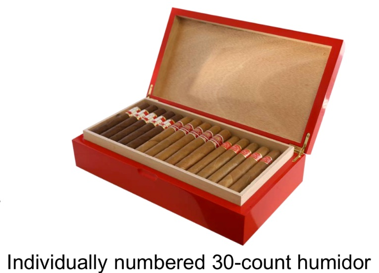 Raffle an individual numbered Humidors