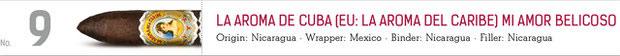 No. 9 La Aroma de Cuba Mi Amor Belicoso