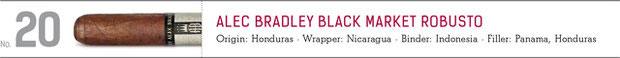No. 20 Alec Bradley Black Market Robusto