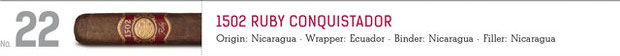 shop now 1502 Ruby Conquistador cigars online here