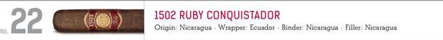 No. 22 1502 Ruby Conquistador