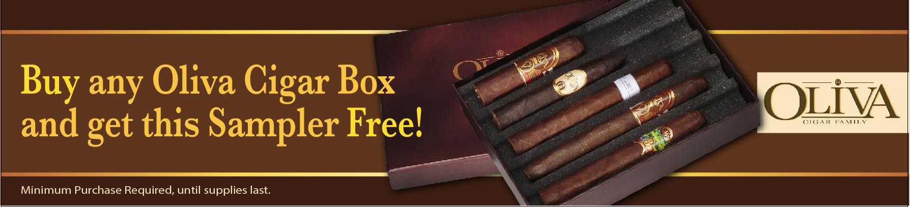 buy oliva, padilla or nub box cigars free sampler