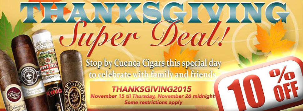 Thanksgiving celebration at Cuenca Cigars in Hollywood, Florida