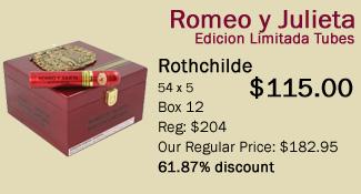 romeo y julieta edicion limitada rothchilde